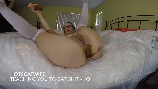 Teaching you to eat SHIT – Jerkoff Instructional FullHD 1080p (Hot Scat Wife /  2018) 1.14 GB