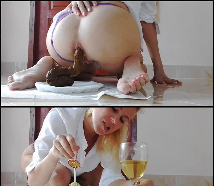 Plate Of Huge Shit, Glass of Drink, Dessert HD 720p (MissAnja /  2018) 726 MB